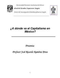A dónde va el Capitalismo en México?
