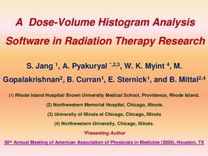 A Dose-Volume Histogram Analysis Software in Radiation Therapy Research