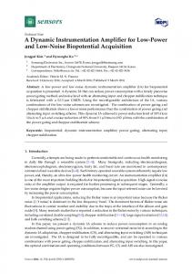 A Dynamic Instrumentation Amplifier for Low-Power and Low-Noise Biopotential Acquisition