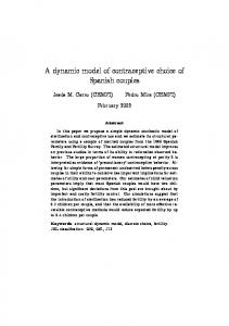 A dynamic model of contraceptive choice of Spanish couples