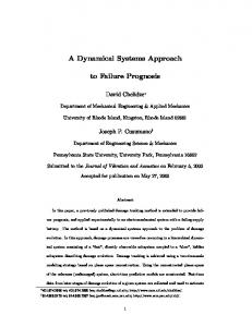 A Dynamical Systems Approach. to Failure Prognosis