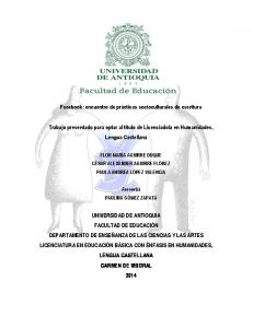 a en Humanidades, Lengua Castellana