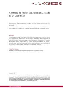 A entrada da Reckitt Benckiser no Mercado de OTC no Brasil