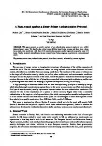 A Fast Attack against a Smart Meter Authentication Protocol
