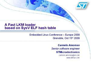 A Fast LKM loader based on SysV ELF hash table