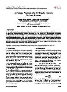 A Fatigue Analysis of a Hydraulic Francis Turbine Runner