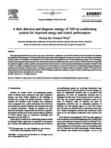 A fault detection and diagnosis strategy of VAV air-conditioning systems for improved energy and control performances