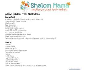 A Few {Gluten-Free} Meal Ideas