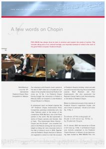 A few words on Chopin