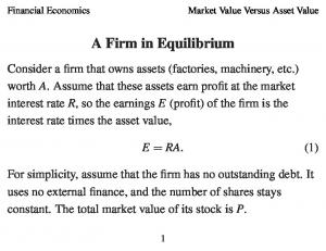 A Firm in Equilibrium