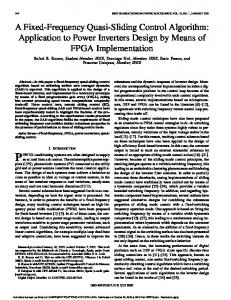 A Fixed-Frequency Quasi-Sliding Control Algorithm: Application to Power Inverters Design by Means of FPGA Implementation