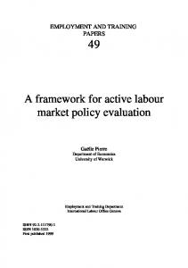 A framework for active labour market policy evaluation