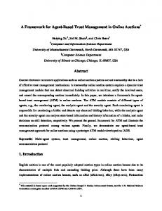 A Framework for Agent-Based Trust Management in Online Auctions *
