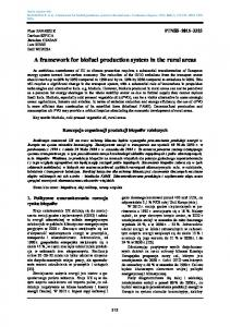 A framework for biofuel production system in the rural areas