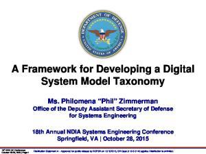 A Framework for Developing a Digital System Model Taxonomy