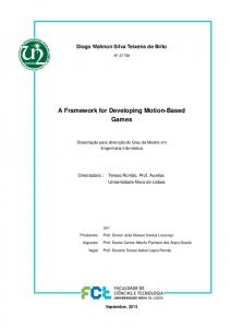 A Framework for Developing Motion-Based Games