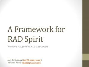A Framework for RAD Spirit