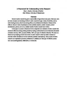 A Framework for Understanding Action Research. Abstract