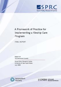 A Framework of Practice for Implementing a Kinship Care Program
