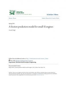 A friction prediction model for small SI engines