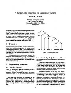 A Fundamental Algorithm for Dependency Parsing