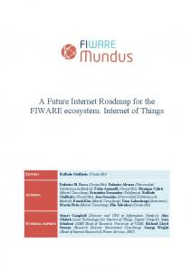 A Future Internet Roadmap for the FIWARE ecosystem: Internet of Things