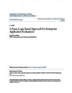 A Fuzzy Logic Based Approach For Enterprise Application Evaluations