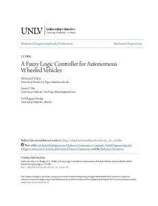 A Fuzzy Logic Controller for Autonomous Wheeled Vehicles