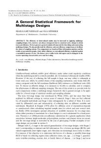 A General Statistical Framework for Multistage Designs