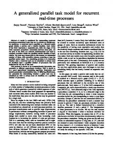 A generalized parallel task model for recurrent real-time processes