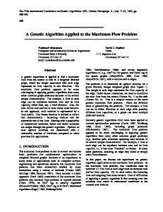 A Genetic Algorithm Applied to the Maximum Flow Problem