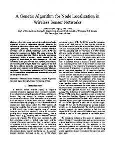 A Genetic Algorithm for Node Localization in Wireless Sensor Networks