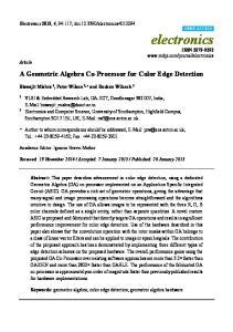 A Geometric Algebra Co-Processor for Color Edge Detection