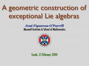 A geometric construction of exceptional Lie algebras