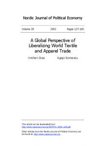 A Global Perspective of Liberalizing World Textile and Apparel Trade