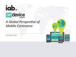 A Global Perspective of Mobile Commerce