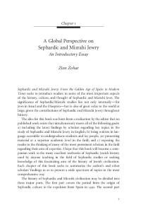 A Global Perspective on Sephardic and Mizrahi Jewry