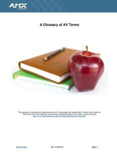A Glossary of AV Terms