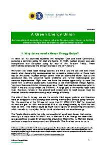 A Green Energy Union