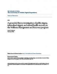 A grounded theory investigation of public stigma, internalized stigma, and mental health recovery in the Wellness Management and Recovery program