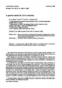 A growth model for DNA evolution