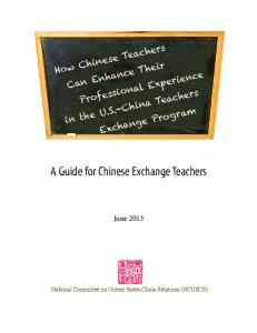 A Guide for Chinese Exchange Teachers