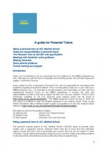 A guide for Personal Tutors