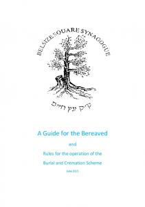 A Guide for the Bereaved