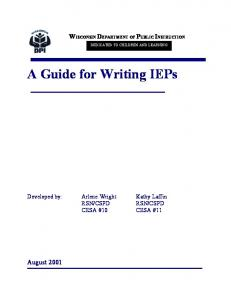 A Guide for Writing IEPs