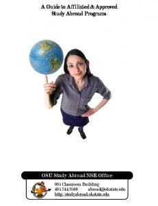 A Guide to Affiliated & Approved Study Abroad Programs