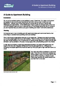 A Guide to Apartment Building