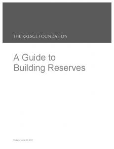 A Guide to Building Reserves
