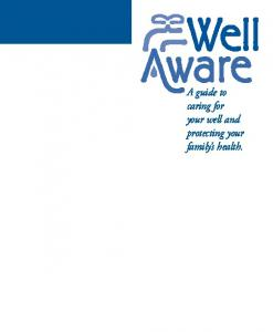 A guide to caring for your well and protecting your family s health