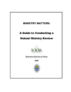 A Guide to Conducting a. Mutual Ministry Review